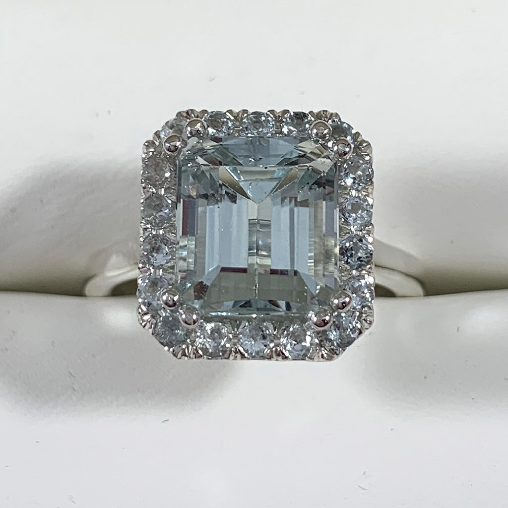 The Felina Aquamarine Engagement Ring