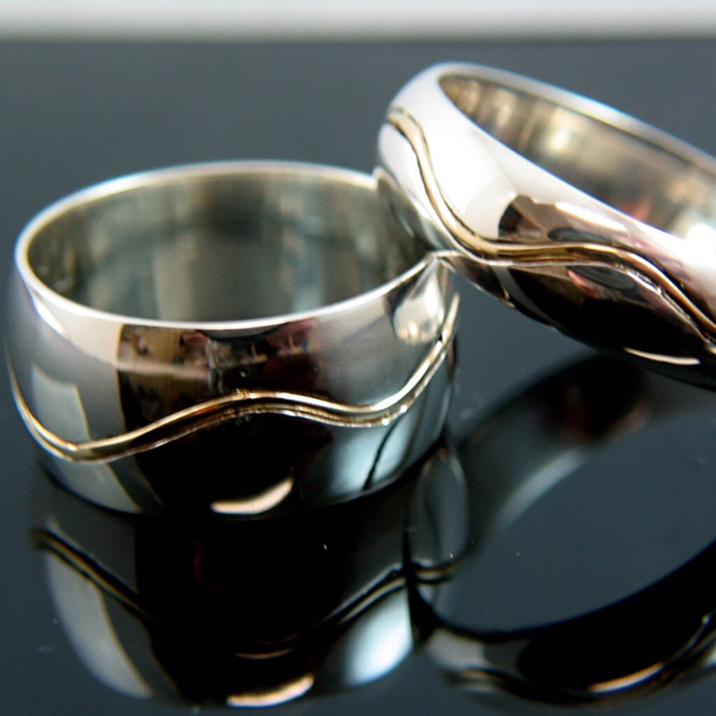 The Path Wedding Bands